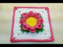 Learn How To Crochet Perfectly Pink Flower 6 Granny Square TUTORIAL 377