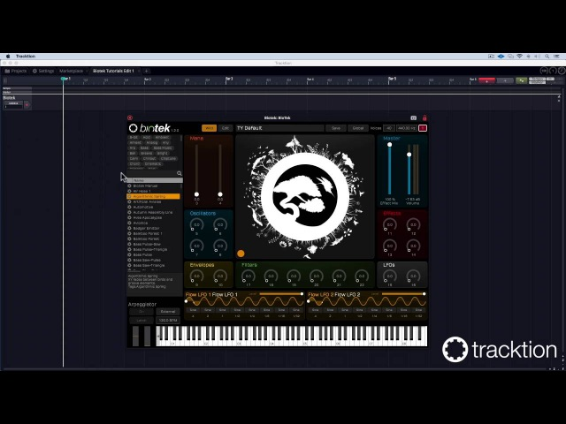 Tracktion BioTek Tutorial 1 start patch