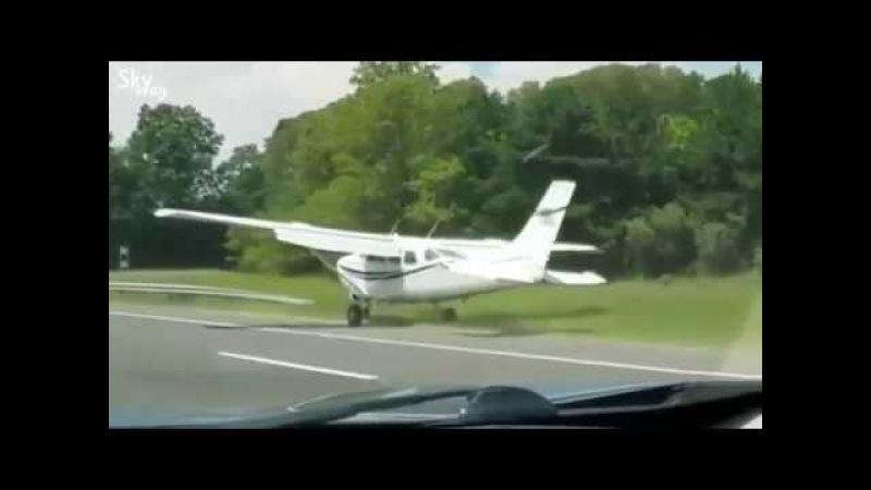 Cessna landed at road | Цессна. Посадка на дорогу