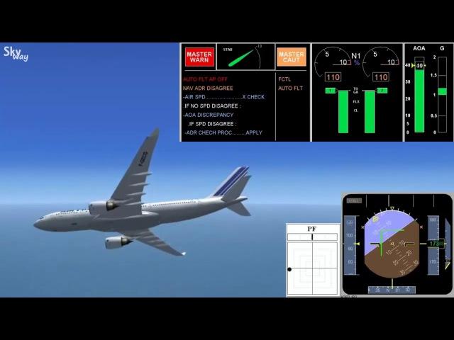 23 A330 Air France stalling Сваливание самолета а330