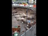 археологические раскопки на Биржевой площади фундамент дома