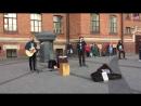 кавер green day - i walk alone (The Railroads, уличные музыканты, Питер)