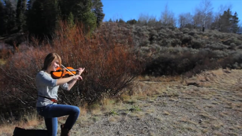 Promentory Last of the Mohicans Theme on Violin - Taylor Davis