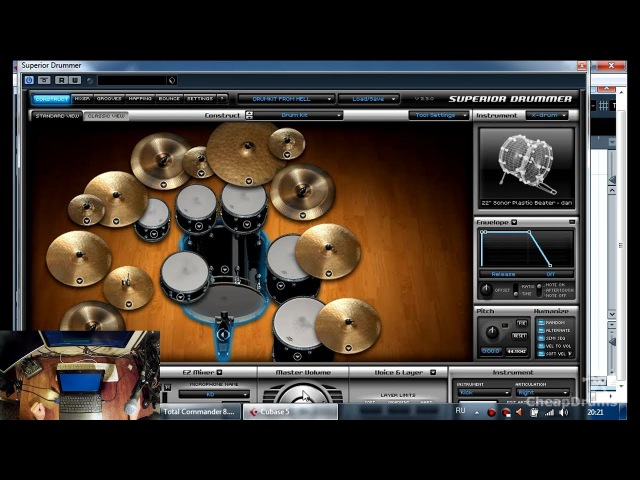 03. Установка Superior Drummer 2 для чайников