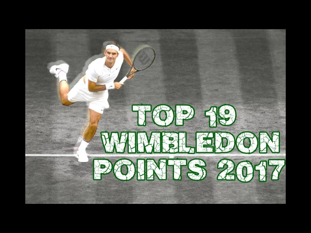 Roger Federer - Top 19 Points Wimbledon 2017
