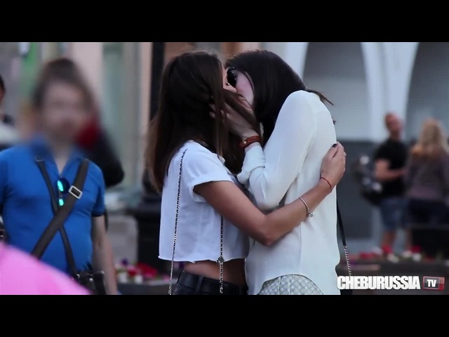 Reaction on lesbian couple in Russia · coub, коуб