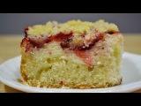 Ванильный Пирог с Творогом и Клубникой | Pie with Cottage Cheese and Strawberries
