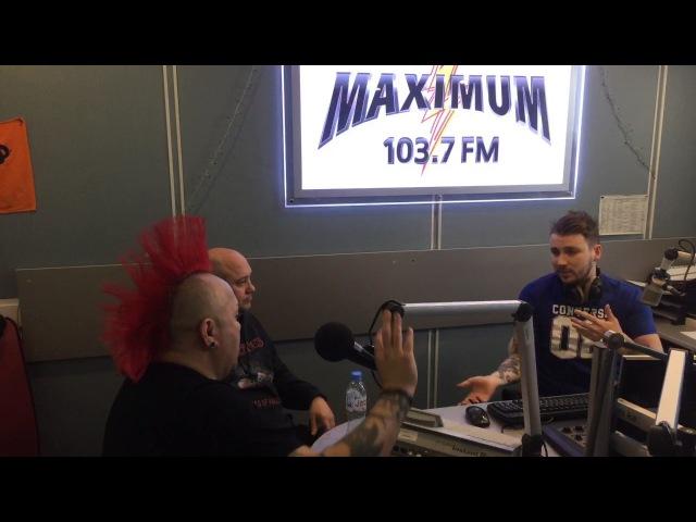 Wattie Buchan (The Exploited) - трансляция из студии Радио MAXIMUM