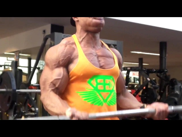 Massive Chest Arms at Ripped Gym