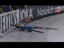 Gabriela Koukalova falls at the Biathlon World Team Challenge 2016