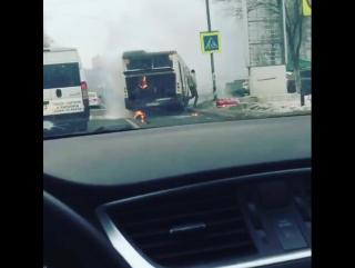 Возгорание в автобусе в Люберцах