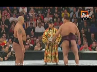 [WWE QTV[Cамці Савців]☆[WrestleMania XXI][21]☆]Akebono vs Big Show]Акебоно про Биг Шоу]