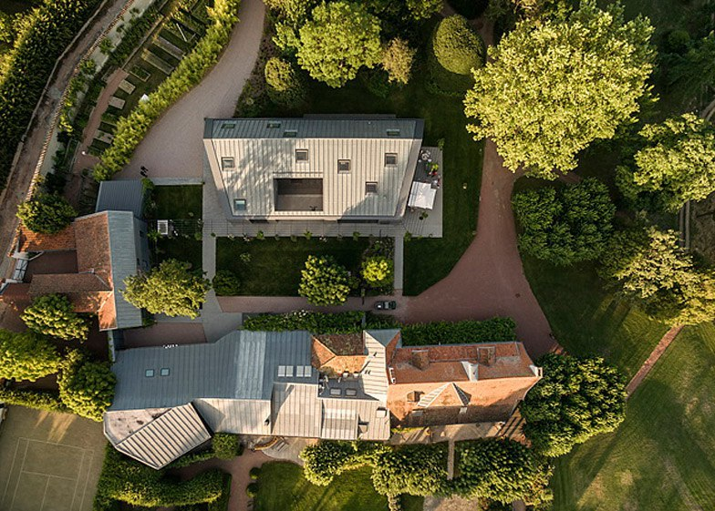 Chestnuts House in France features a courtyard room and a private art gallery