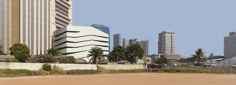COSTALOPES creates polyhedral white volume for educational institute in angola  (Part 1)