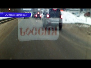 Видеорегистратор. ДТП на Комсомольской площади, фура и фургон. Место происшеств ...