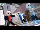 [MMD x Undertale] Classic, Blueberry, and Fell Sanses - Echo