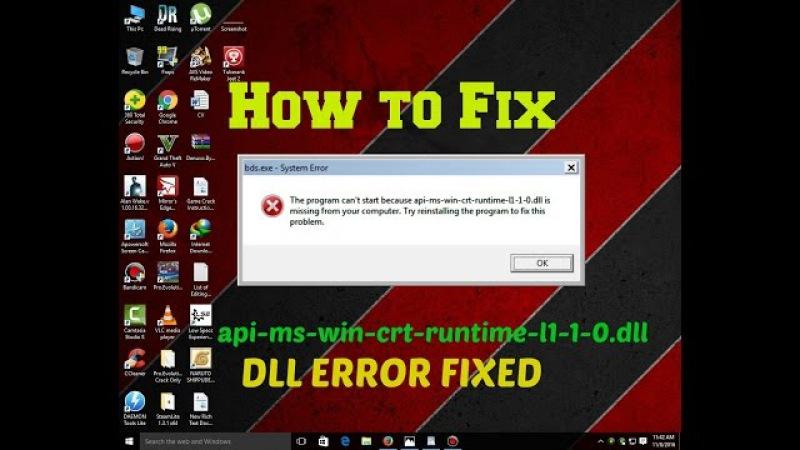 How To Fix Error api-ms-win-crt-runtime-l1-1-0.dll | Dll Error Fixed