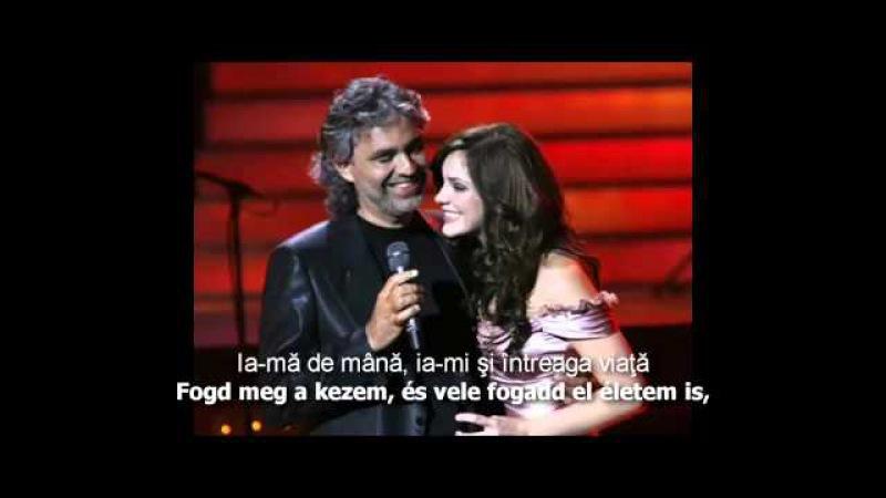 Katharine McPhee Andrea Bocelli - Can't Help Falling In Love (magyar romana)