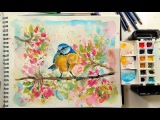 Archived LIVE! Loose Watercolor Bird REAL-TIME Version