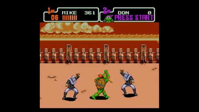 Teenage Mutant Ninja Turtles: Return of the Shredder (Sega Mega Drive)