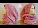 Capucha bufanda a crochet paso a paso