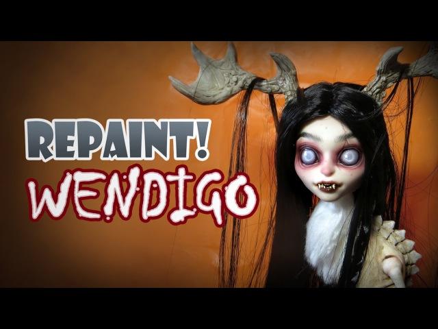 Repaint Skelita Wendigo Custom OOAK Doll Process 웬디고 리페인팅