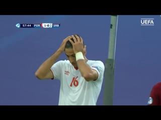 EURO U21. Португалия − Сербия 2:0