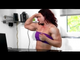 Fbb Muscle Girl Posing Biceps Private