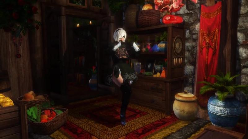 Skyrim - Sexy Dance (2B, Nier Automata) /gamechan