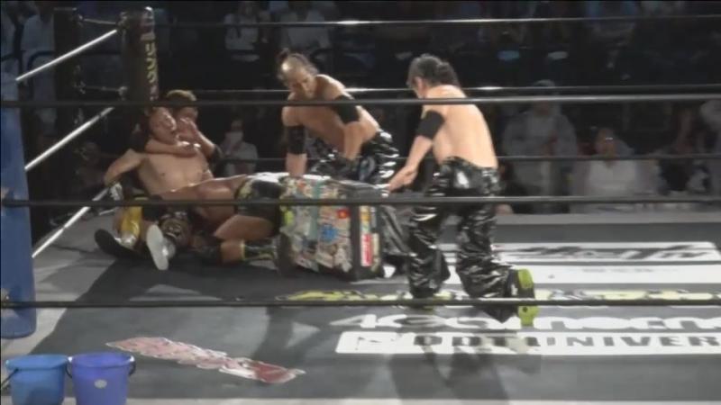 Brahman Brothers, Gorgeous Matsuno vs. Kazuki Hirata, Toru Owashi, Yukio Collection AT (Yukio Sakaguchi) (DDT - BGF 2017)