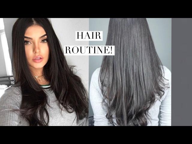 ЖЕНСКИЕ СЕКРЕТЫ - My Everyday Hair Routine Straight Hair With Volume 2017!