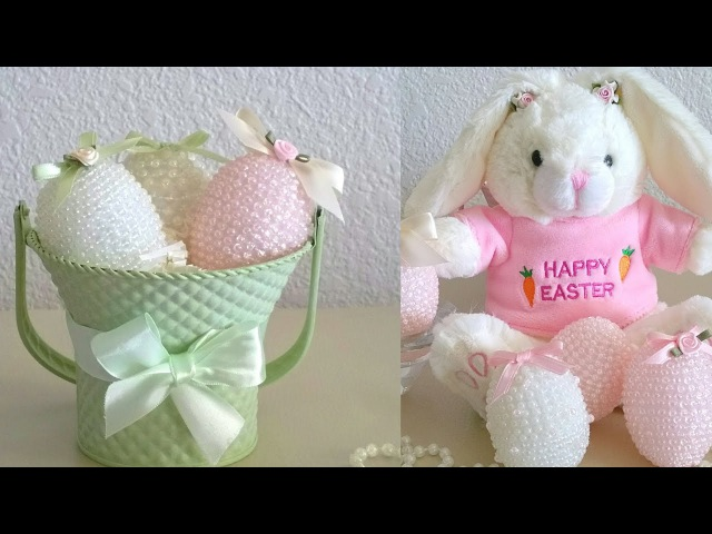 DIY| BEADED EASTER EGGS/ TIME FOR EASTER FUN... UNDER $4.00 TO MAKE