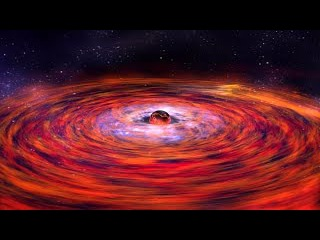 Чёрная дыра. Искажение пространства и времени.