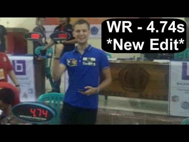 4.74 sec (former) WORLD RECORD (close up and slow) - Rubik's Cube Puzzle by Mats Valk
