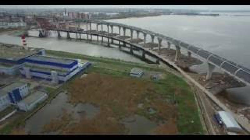 ЗСД от развязки с наб. р. Екатерингофки до моста через Корабельный фарватер