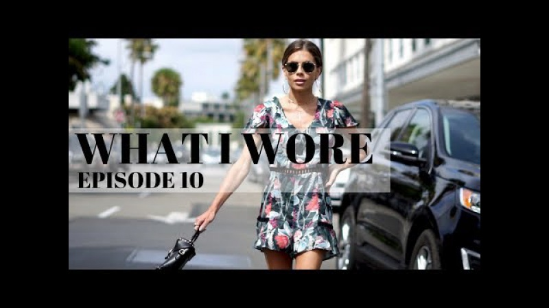 WHAT I WORE | EPISODE 10 | Oversized Shirt Floral Romper Ruffle Top Fringe Jeans