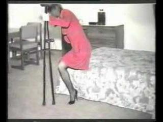 Amputee - Danielle a lak sexy crutch walking in bad