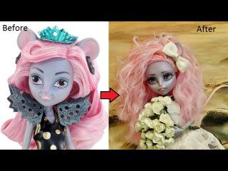 ООАК Мауседес Кинг . Repainting Mouscedes King Boo York Monster High Doll