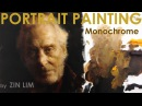 Monochromatic Portrait Painting of Tywin Lannister Game of Thrones