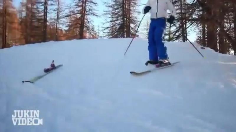 Потерянная Лыжа Сбила Лыжника (100500)
