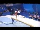 Спортивная гимнастика. Одна из сложных программ на бревне.