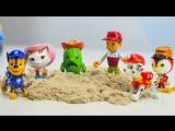 Щенячий Патруль (PAW PATROL) и Шериф Келли: Играем с Кинетическим песком ВИДЕО ДЕТЯМ