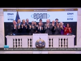 Arkadiy Dobkin, EPAM CEO and President, ringing the NYSE Closing Bell