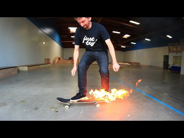 ИГРА В S.K.A.T.E НА ПЫЛАЮЩЕМ СКЕЙТБОРДЕ! - FLAMING SKATEBOARD GAME OF SKATE! - РУССКАЯ ОЗВУЧКА
