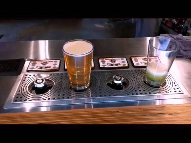 Пиво наливается снизу вверх