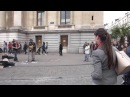 A random lady with good voice Join a Busker Lampa Faly singing Three little birds