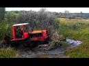 Тракторы ДТ-75 месят грязь на бездорожье! Каждый гусеничный трактор мечтает стат ...