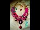 Maxi Collar de Trapillo Agatas y Cristales Alambrismo DIY