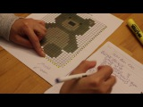How to Make a Word Chart from a Graph for C2C Crochet
