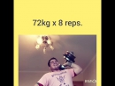 72kg 8 reps.press dumbbell